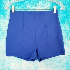 2 Cute High Waisted Blue Shorty Shorts